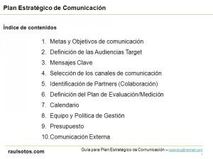 Guía de Comunicación - raulsotos.com